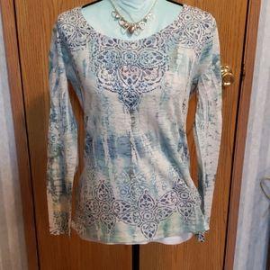 Kiara Super Soft, Long Sleeve, Embellished Shirt